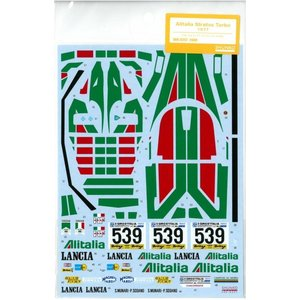 1/24 アリタリアストラトスターボ 1977(T社「ランチア・ストラトス・ターボ」対応)【SHUNKOデカール 1/24 SHK-D257】|barchetta