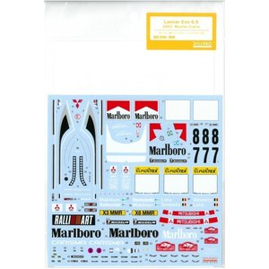 1/24 ランサーエボ6.5 2001モンテカルロ T社「三菱ランサーエボリューションVI WRC」対応 barchetta