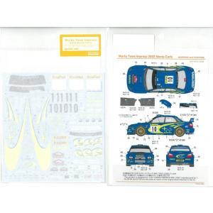 1/24 ワークスチームインプレッサ 2002モンテカルロ(T社「スバルインプレッサWRC2002」対応)【SHUNKOデカール】|barchetta