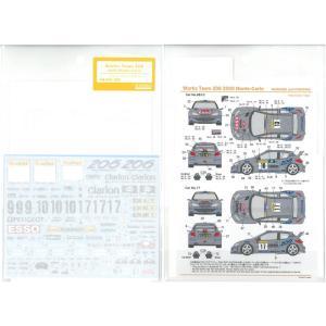 ワークスチーム206 2000モンテカルロ(T社「プジョー206 WRC(2000年仕様)」対応)【SHUNKOデカール】|barchetta