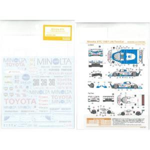 ミノルタ87C 1987 LM/テストカー(H社「ミノルタ88C(ル・マンタイプ)」など対応)【SHUNKOデカール 1/24】|barchetta