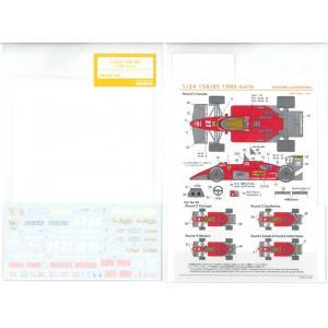 1/24 フェラーリ 156/85 1985前期(P社「Ferrari 156/85 TURBO」対応)【SHUNKOデカール SHK-D366】|barchetta
