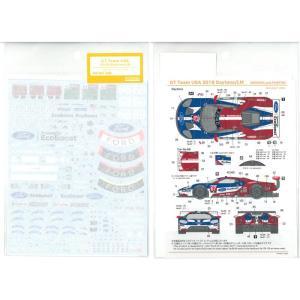 1/24 GT チームUSA 2018デイトナ/LM(R社「フォード GT ル・マン」対応)【SHUNKOデカール SHK-D367】|barchetta