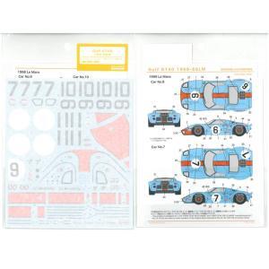 1/24 ガルフGT40 1968-69LM(F社「フォード GT-40 '68ル・マン優勝車」「同 '69ル・マン優勝車」対応)【SHUNKOデカール 1/24 SHK-D369】 barchetta
