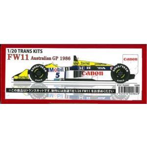 FW11 AustralianGP 1986 1/20 TRANS KITS (T社1/20 対応)|barchetta