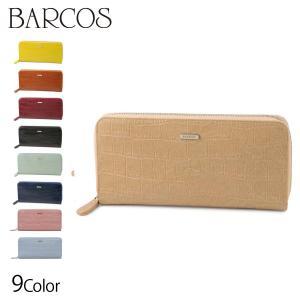 財布 レディース BARCOS クロコダイル型押しロングウォレット レディース 全7色 ONESIZ...