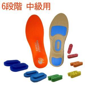インソール 扁平足 足底筋膜炎 BarefootScience 6段階フルタイプ 偏平足矯正 足裏が...