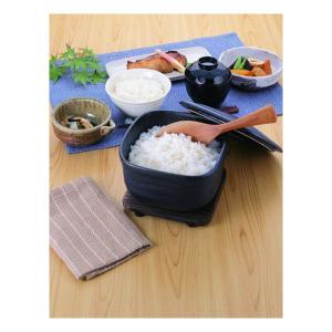 陶製だからこそ味わえる、遠赤効果で、昔ながらの炊きたてご飯。  ●温かいご飯を入れてもベトつきにくい...