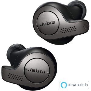 Jabra 完全ワイヤレスイヤホン Elite 65t チタニウムブラック Amazon Alexa...