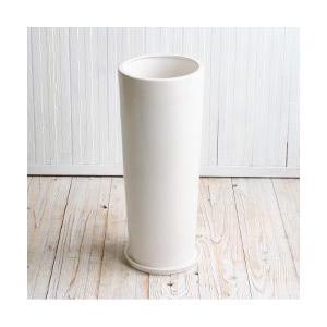 植木鉢 陶器鉢 ルッカT.T HG15 白ツヤ 6号受け皿付き|bargepot