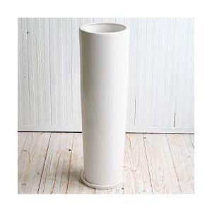 植木鉢 陶器鉢 ルッカT.T HG16 白ツヤ 6号受け皿付き|bargepot