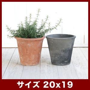 植木鉢/おしゃれ/テラコッタ/素焼き鉢/小型/アンティーク  規格:7号鉢 / 外寸 20cm / ...