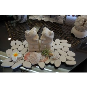 バリ島 石像 お祈りカエル オブジェ|baris