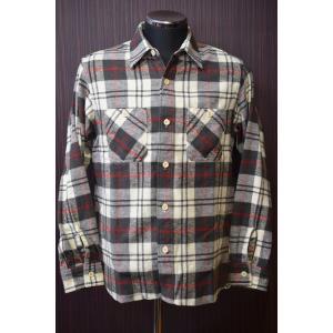 シュガーケーン ネルシャツ Sugar Cane SC27385 ツイルチェック ワークシャツ ホワイト×グレー