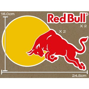 海外限定 / 特大 / PVC仕様 / RED BULL レッドブル ロゴ ステッカー カスタム ライダー 防水仕様 R01-02