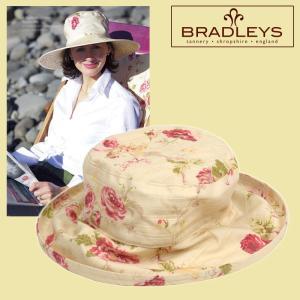 英国ブラッドリー(BRADLEYS) イングリッシュローズ リネンソフィースタイルサンハット(日よけ帽子) ピンク|baroness