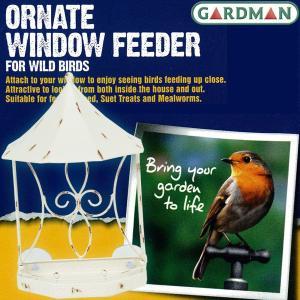 英国ガードマン(GARDMAN) オーネイト 窓ガラス用吸盤付ウィンドウフィーダー(バードフィーダー、小鳥のエサ台) baroness