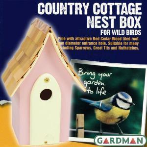 英国GARDMAN(ガードマン) カントリーコテージ ネストボックス(巣箱) ピンク baroness