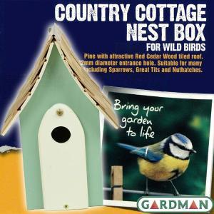 英国GARDMAN(ガードマン) カントリーコテージ ネストボックス(巣箱) グリーン|baroness