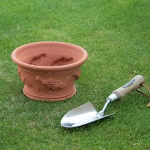 英国 ウィッチフォード ハーブ パン 直径22センチ(約7号鉢)のテラコッタ|baroness