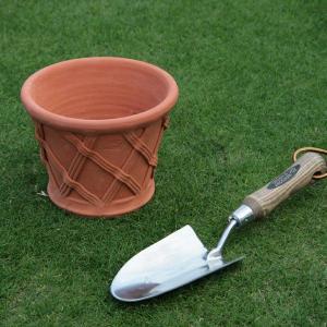 英国 ウィッチフォード ストレート バスケットポット 直径18センチ(約6号鉢)のテラコッタ/送料無料/|baroness