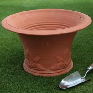 英国 ウィッチフォード ホスタ ポット 直径44センチ(約14.5号鉢)のテラコッタ/送料無料/|baroness