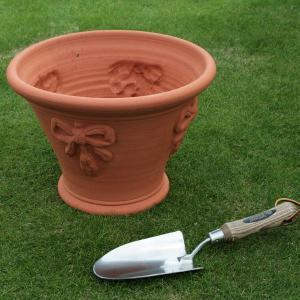 英国 ウィッチフォード ラベンダー ポット 直径32センチ(約10.5号鉢)のテラコッタ/送料無料/|baroness