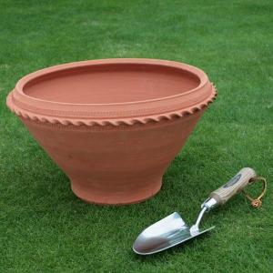英国 ウィッチフォード ローズ ボウル 直径38センチ(約12.5号鉢)のテラコッタ/送料無料/|baroness