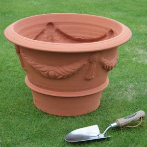 英国 ウィッチフォード イタリアネイト ポット 直径47センチ(約15.5号鉢)のテラコッタ/送料無料/|baroness