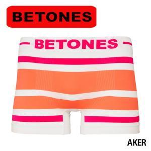 BETONES(ビトーンズ)ボクサーパンツ メンズ AKER ( PINK×ORANGE ) メール便対応 プレゼント ギフト|barouge