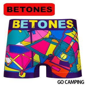 BETONES ビトーンズ ボクサーパンツ メンズ GO CAMPING メール便対応 プレゼント ギフト|barouge