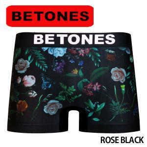 BETONES ビトーンズ ボクサーパンツ メンズ ROSE BLACK メール便対応 プレゼント ギフト|barouge