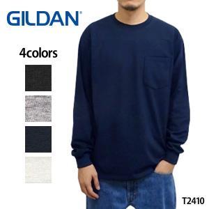 GILDAN ( ギルダン ) ロンT ポケット ウルトラコットン 長袖 Tシャツ メンズ 6.0オ...