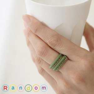 リング レザー 本革 シンプル レディース メンズ Random(ランダム) メール便対応 プレゼント ギフト|barouge