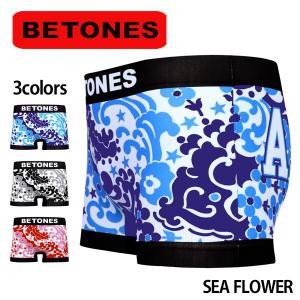 BETONES ビトーンズ ボクサーパンツ メンズ SEA FLOWER メール便対応 プレゼント ギフト|barouge