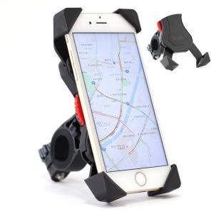 バイク 自転車 用 スマートフォンホルダー ダイヤル式 バー マウント 多機種対応!! 厚さ調整パッド付属【送料無料】|barsado2