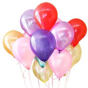 風船 ふうせん 極厚 100個セット 弾力 2倍 2WAY 空気入れ 高品質 キラキラ 光沢 誕生日 結婚式 パーティー 飾り 装飾|barsado2