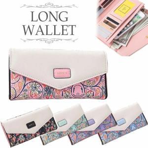 長財布 レディース 大人可愛い スナップボタン フラップ式 花柄 薄型 薄い シンプル PUレザー 大容量 カードケース レッド|barsado2