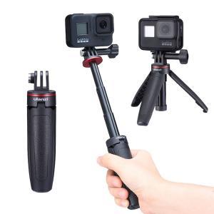GoPro アクセサリー ミニ三脚 Ulanzi MT-09 自撮り棒 セルフィースティック hero7 hero6 hero5 ブラック マウント アクションカメラ 旅行 Youtuber barsado2