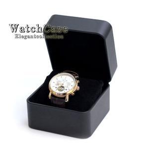 ウォッチケース 時計ケース 腕時計 スエード シンプル スエード調 時計入れ 四角 ブラック 黒 箱...