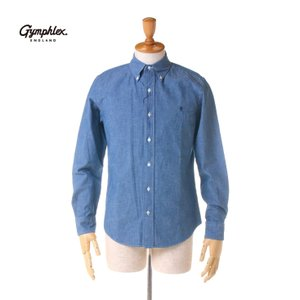 Gymphlex(ジムフレックス) メンズ 長袖 シャンブレー ボタンダウンシャツ #J-0643 COD 送料無料 2018春夏/新作|bas-clothing