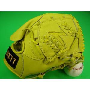 型付け無料 ゼット ZETT 海外モデル 硬式用 投手用 イエロー 王冠バック Zウェブ GOLD LINE QOALITY 高校野球対応カラー|baseballfield