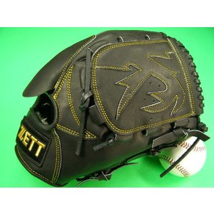 型付け無料 ゼット ZETT 海外モデル 硬式用 投手用 ブラック×イエロー糸 王冠バック GOLD LINE QOALITY 高校野球対応カラー|baseballfield