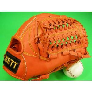 型付け無料 ゼット ZETT 海外モデル 硬式用 オールラウンド用 オレンジ×イエロー糸 GOLD LINE QOALITY 高校野球対応カラー baseballfield