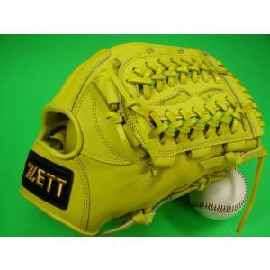 型付け無料 ゼット ZETT 海外モデル 硬式用 オールラウンド用 イエロー GOLD LINE QOALITY 高校野球対応カラー|baseballfield