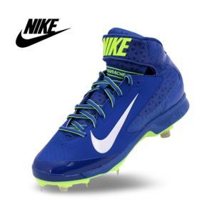 海外モデル NIKE ナイキ  メタルスパイク ミッドカット ロイヤルブルー NIKE AIR HUARACHE PRO MID MTL baseballfield