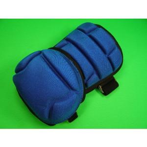 エルボーガード アームガード ブルー×ブラック メッシュ素材採用 左右打者兼用 ベースボールフィールド オリジナル ガード