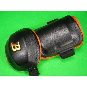 ベルガード BELGARD  プロ仕様 合皮巻きタイプ アームガード ブラック&オレンジ AL811 (エルボーガード)|baseballfield
