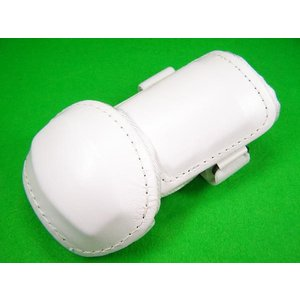 ベルガード BELGARD  学生野球対応 プロ仕様 合皮巻きタイプ アームガード ホワイト AL820 (エルボーガード)|baseballfield