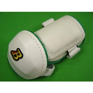 ベルガード BELGARD  プロ仕様 合皮巻きタイプ アームガード ホワイト×グリーン AL811 (エルボーガード)|baseballfield